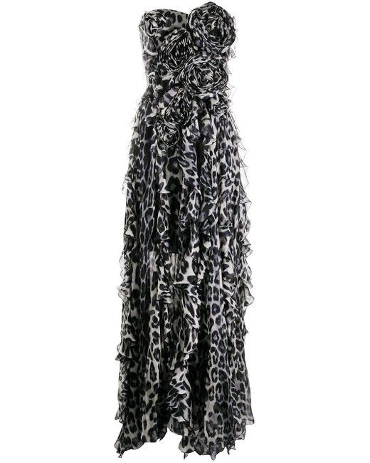 Blumarine アニマルプリント ドレス Gray