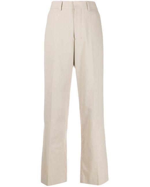 Pantaloni a gamba ampia di AMI in Natural