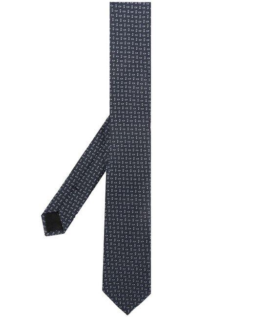 メンズ Dolce & Gabbana パターン ネクタイ Black