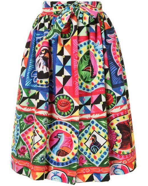 Stella Jean プリント プリーツスカート Multicolor