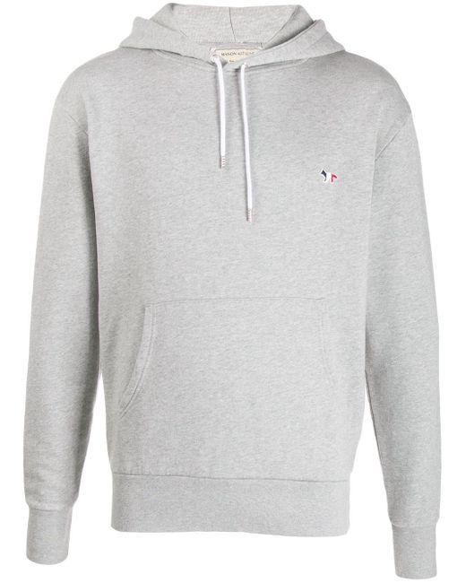 メンズ Maison Kitsuné フーデッド スウェットシャツ Gray