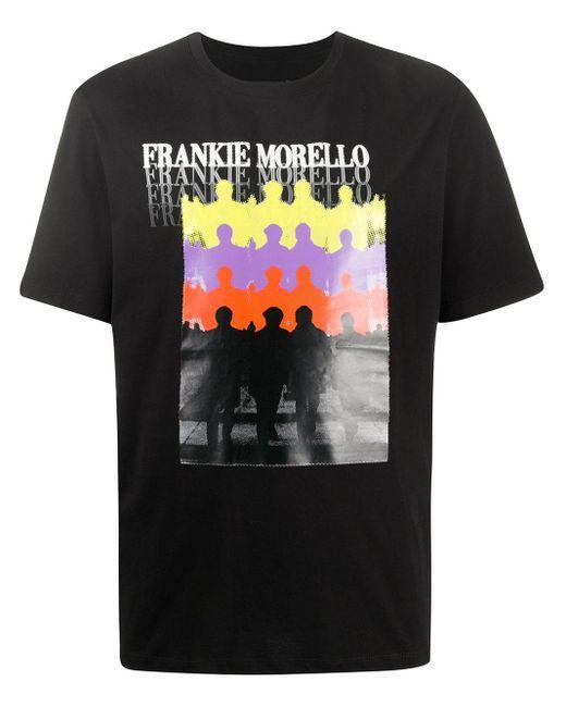 メンズ Frankie Morello プリント Tシャツ Black