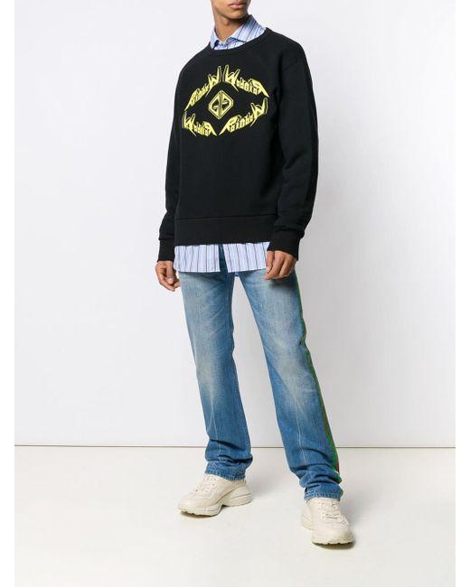 メンズ Gucci ロゴ スウェットシャツ Black