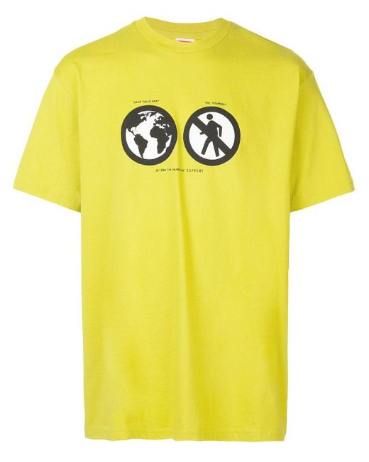メンズ Supreme Save The Planet Tシャツ Yellow