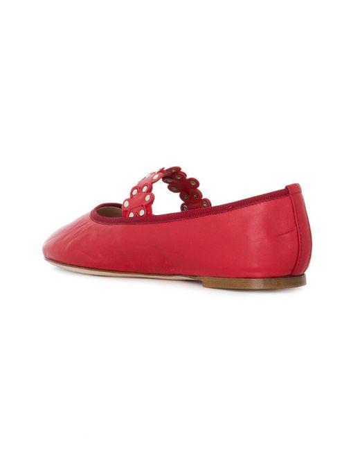 ff9042e6a6e1 ... RED Valentino - Red(v) Ballerina Flats - Lyst ...