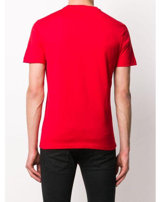 Футболка С Логотипом Versace для него, цвет: Red