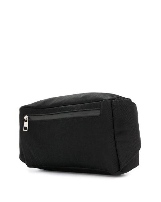 メンズ Alexander McQueen ロゴ ベルトバッグ Black