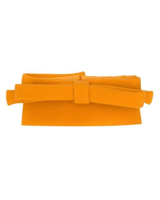 Miu Miu リボンスカーフ Orange