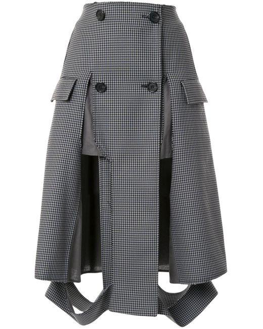Maison Margiela ハウンドトゥース スカート Gray