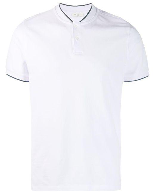 メンズ Sandro ラウンドネック ポロシャツ White