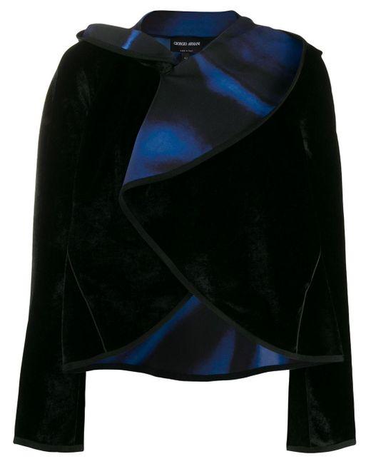 Giorgio Armani ドレープカラージャケット Black