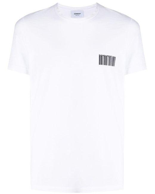 メンズ Dondup ロゴ Tシャツ White