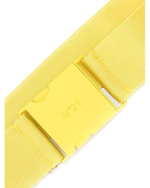 N°21 ロゴバックル ベルト Yellow