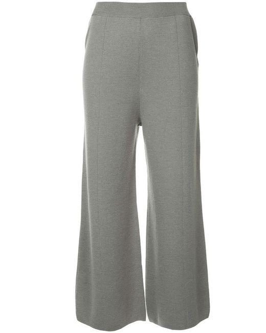 G.v.g.v - Gray Milano Ribbed Bow Knot Back Trousers - Lyst