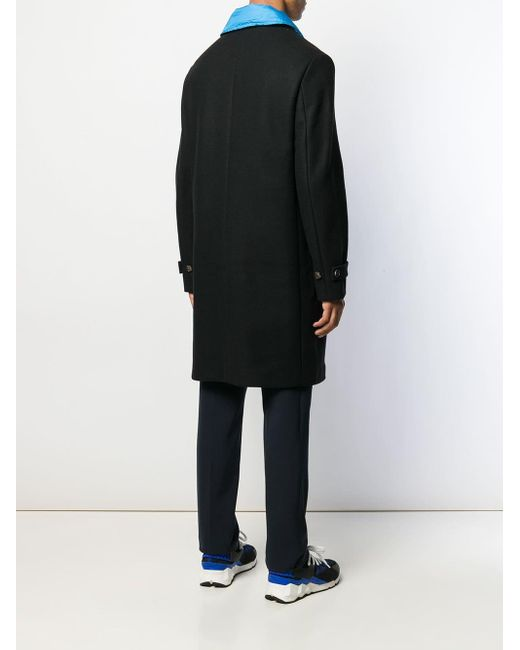 メンズ KENZO レイヤードコート Black