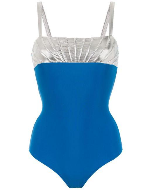 Bicolour Swimsuit Adriana Degreas, цвет: Blue
