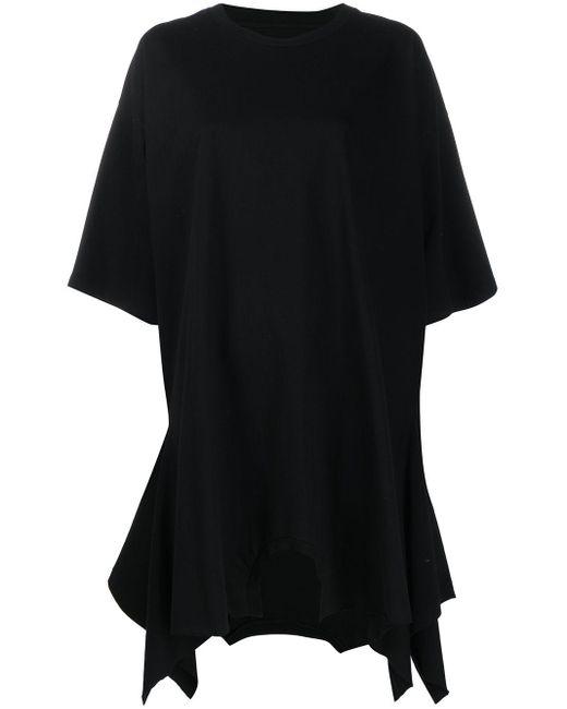 MM6 by Maison Martin Margiela Vestido estilo camiseta de mujer de color negro