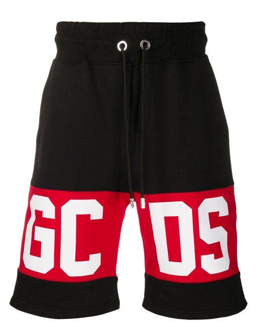 メンズ Gcds ロゴ トラックショーツ Black