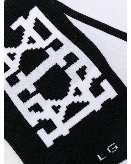 メンズ KTZ カラーブロック 靴下 Black