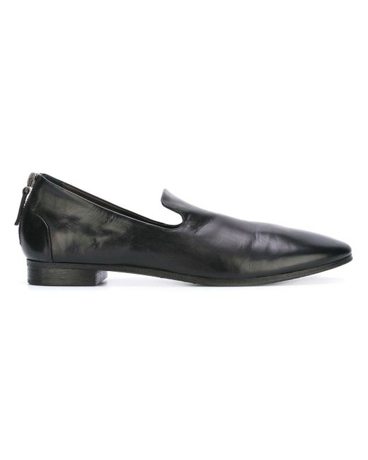 Marsèll Black Back Zip Pointed Slippers