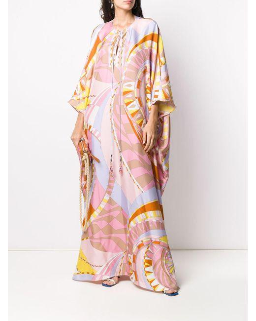 Emilio Pucci ロングライン カフタン Multicolor