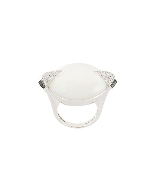 Shaun Leane - Metallic ' Deco' Pearl And Diamond Ring - Lyst