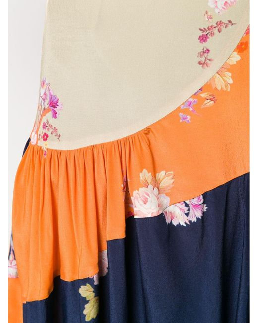 Preen Line Lilja カラーブロック スカート Blue