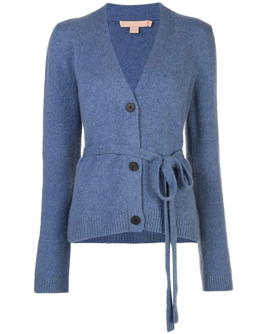 Brock Collection Belted Waist Cardigan Blue
