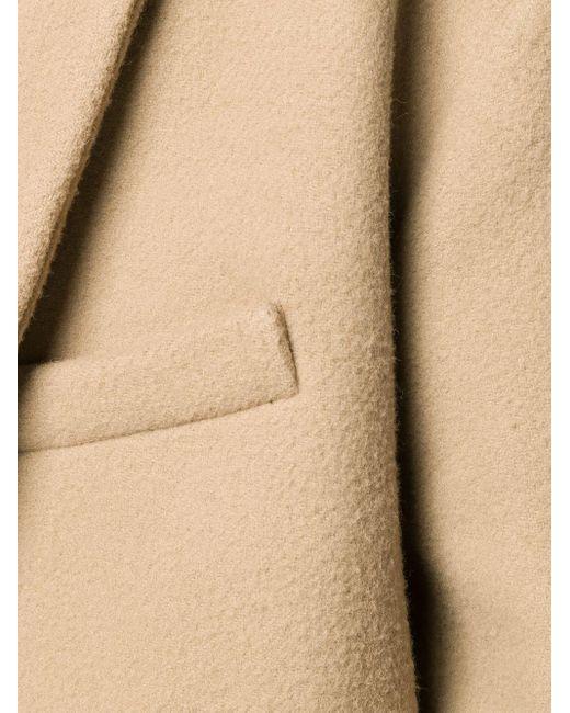 メンズ AMI Oversize Two Buttons Coat Natural