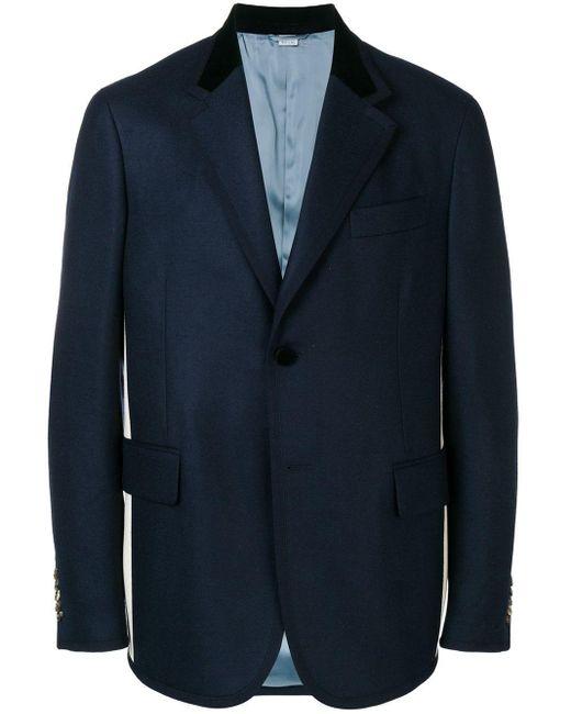 メンズ Gucci シルヴィ ウェブストライプ ジャケット Blue