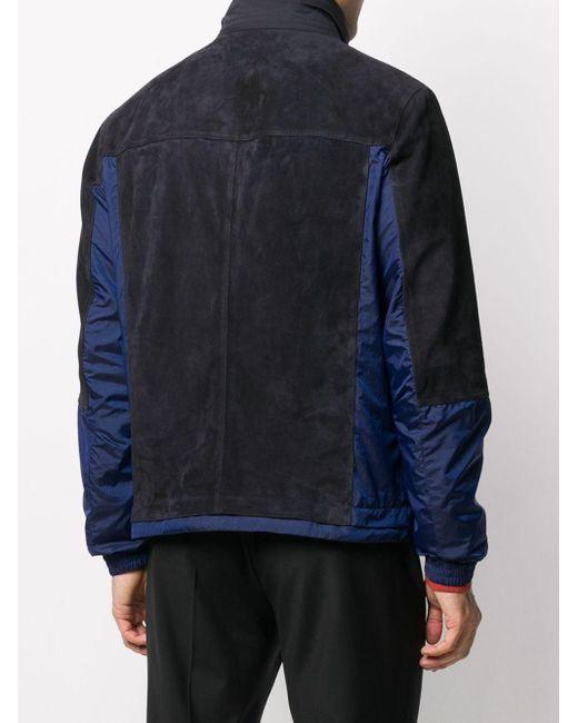 メンズ Z Zegna コントラストパネル ジャケット Blue