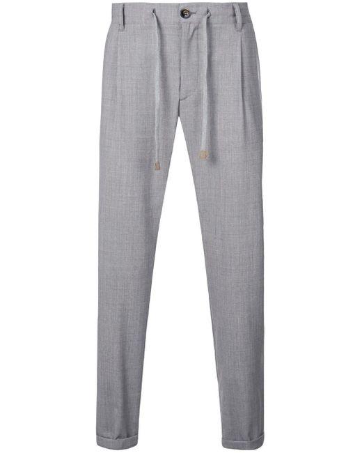 メンズ Eleventy ドローストリング パンツ Gray