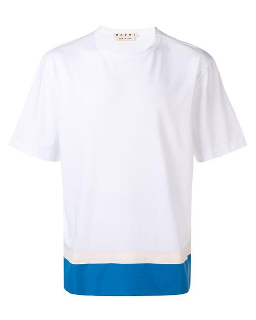 Marni - White Two-tone T-shirt for Men - Lyst