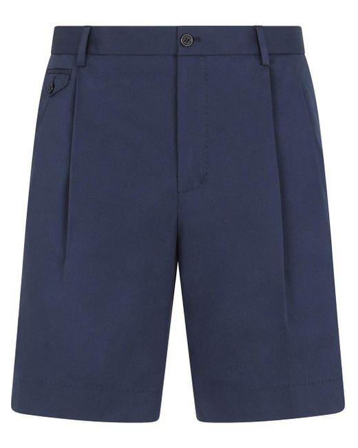 Шорты-бермуды С Вышитым Логотипом Dolce & Gabbana для него, цвет: Blue