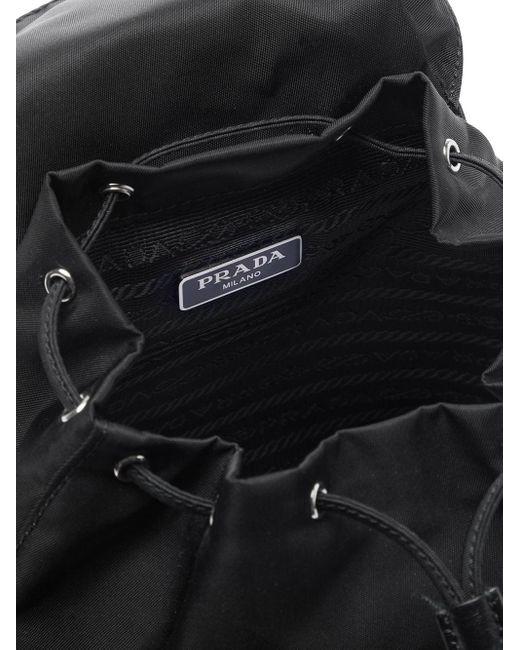 Prada ナイロン&サフィアーノレザー バックパック Black