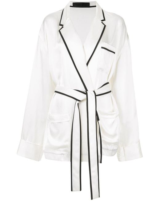 Haider Ackermann サテン パジャマシャツ White