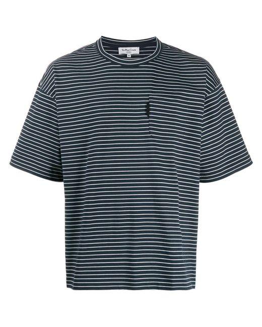 メンズ YMC ストライプ Tシャツ Blue