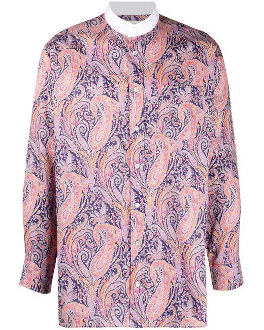 メンズ Mackintosh ペイズリー シャツ Purple