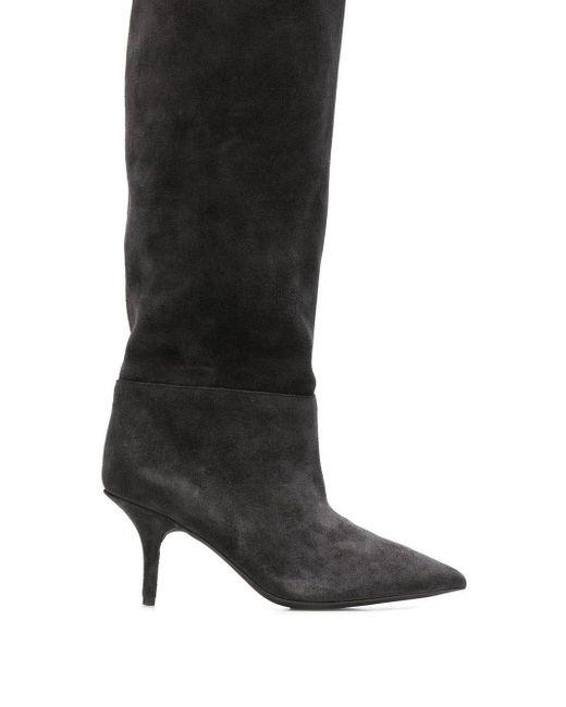 Yeezy Gray Knee-high Boots