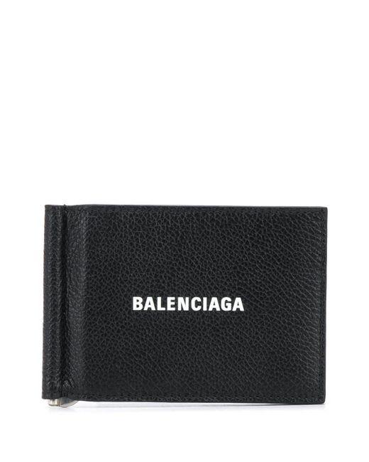 メンズ Balenciaga マネークリップ財布 Black