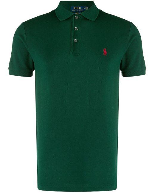 メンズ Polo Ralph Lauren スリムフィット ポロシャツ Green