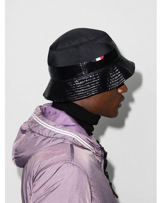 メンズ Moncler ロゴ バケットハット Black