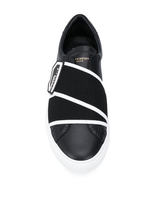 メンズ Givenchy ロゴ ローカットスニーカー Black