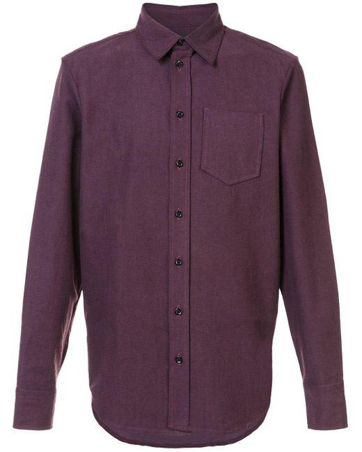 メンズ Yang Li ボタンダウン シャツ Purple