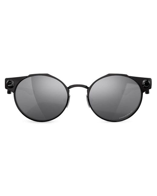 Oakley Black Deadbolt Round-frame Sunglasses
