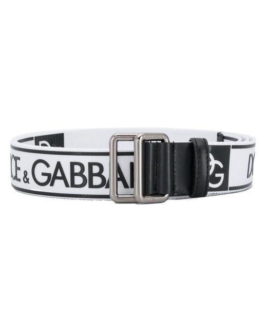 メンズ Dolce & Gabbana ロゴ ベルト Black