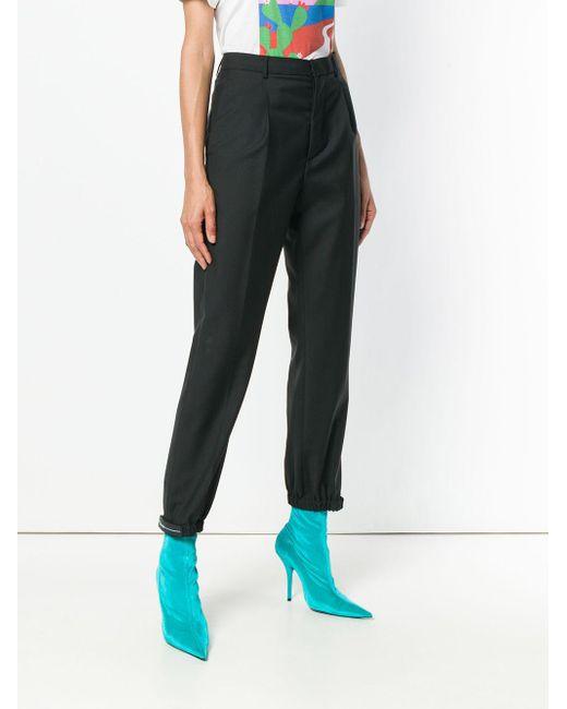 Prada Black Schmal zulaufende Taillenhose