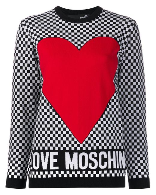 Love Moschino ハート プルオーバー White