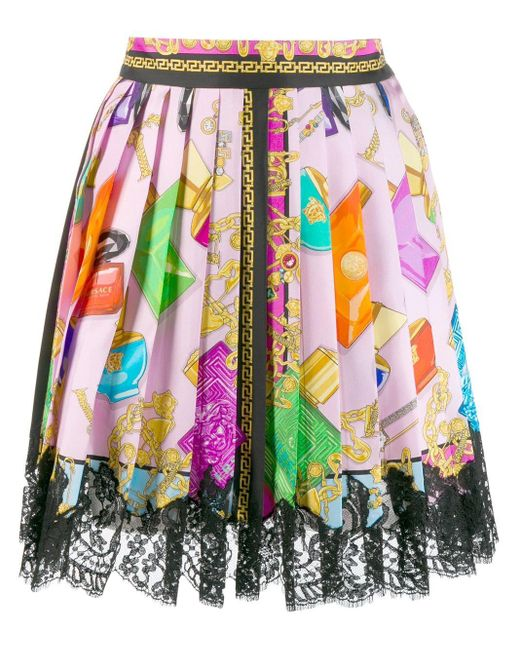 Versace バロックプリント スカート Multicolor