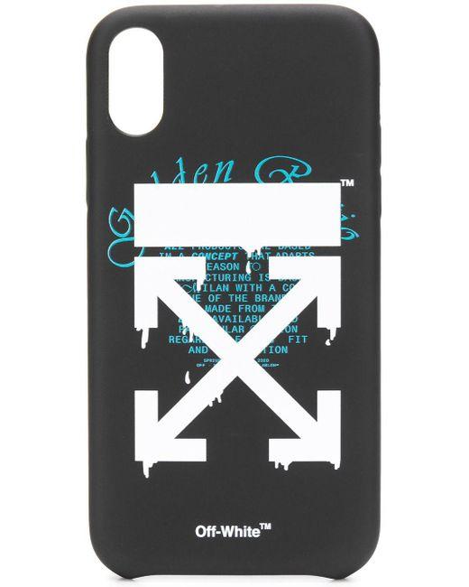 Off-White c/o Virgil Abloh Dripping Arrows Iphone Xr ケース Black